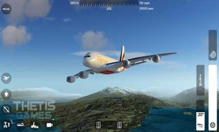 Flight Simulator 2018 FlyWings Free/Full 2.2.4 Apk + Data for android
